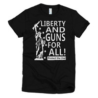 Liberty & Guns for All! women's t-shirt