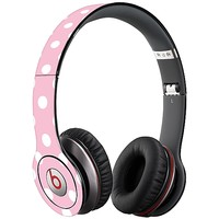 White Polka Dot on Baby Pink Skin  for the Beats Solo HD by skinzy.com