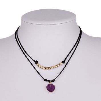 Jewelry New Arrival Gift Shiny Pendant Stylish Chain Necklace [8804710855]