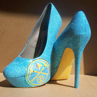 Denver Nuggets Glitter High Heels by TattooedMary on Etsy