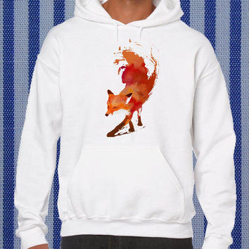 vulpes fox Hoodie unisex adults Size S to 2XL