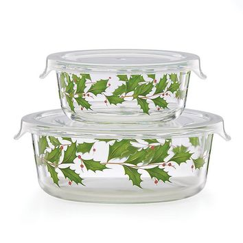 Hosting the Holidays™ Glass Storage Bowls