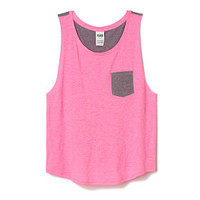 Boyfriend Pocket Tank - PINK - Victoria's Secret