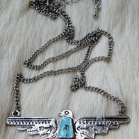 Thunderbird Necklace Thunderbird Tribal Jewelry Turquoise Necklace Tribal Tribe Native American Navajo Cherokee Indie Boho Bohemian Gypsy