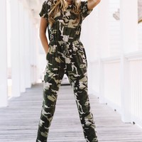You'll Never Find Me Camo Jumpsuit
