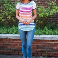 Best To Be Bold Top, Blue-Multi