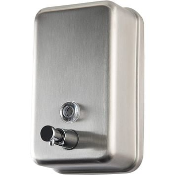 Commercial Soap Dispenser Wall Mount - Stainless Steel Wall Mounted