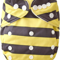 Reusable Pocket Cloth Diaper with a microfiber insert- Bee