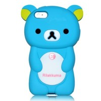 Blue Rilakkuma Bear Soft Silicone Case for iPhone 5 Cover for The New iPhone 5