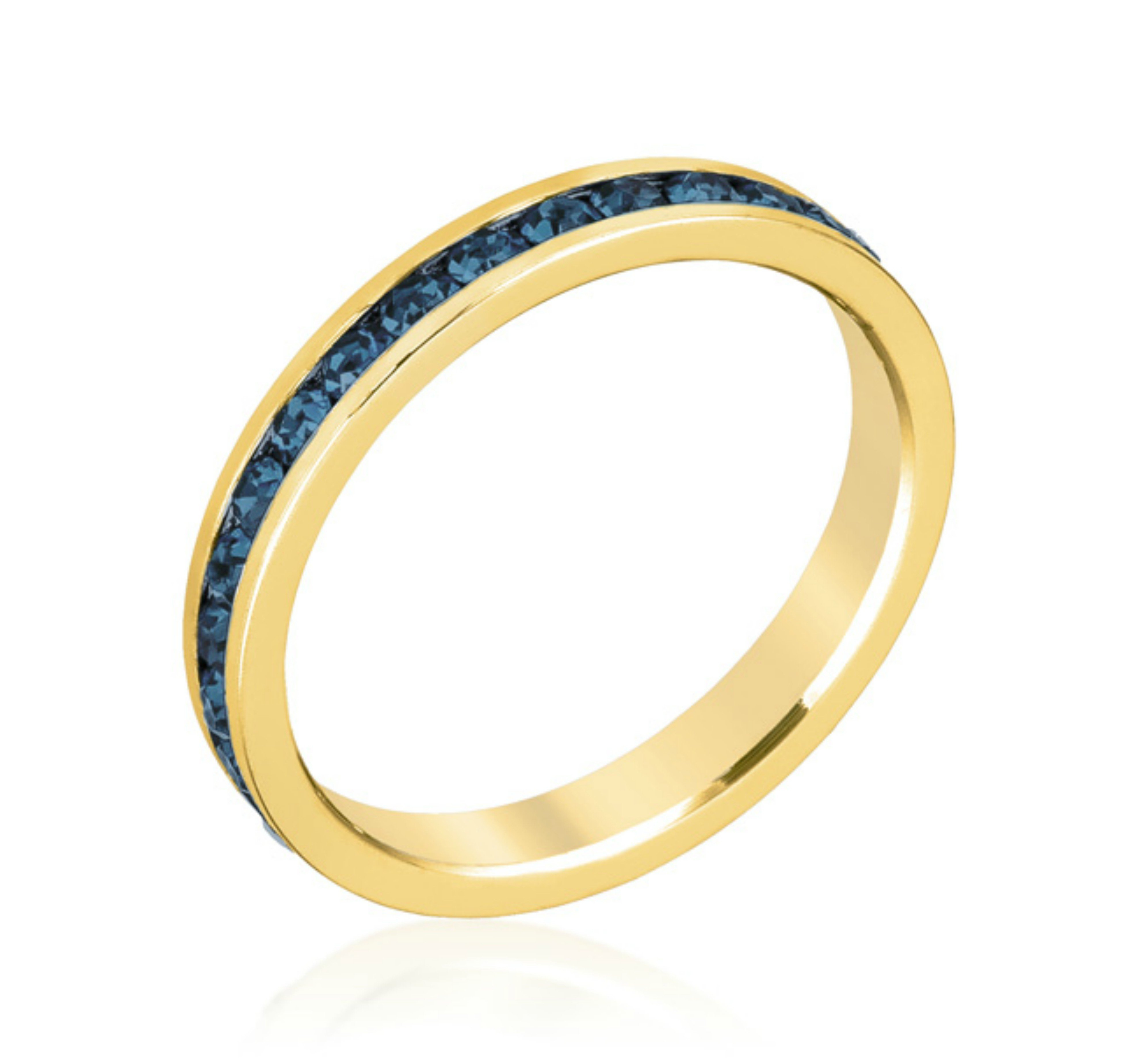 Image of Gail Sapphire Blue Eternity Stackable Ring | 1ct | 18k Gold