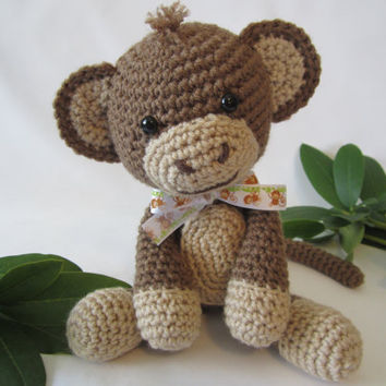 Monkey amigurumi toy pattern Crochet monkey pattern diy pdf Monkey ... | 354x354