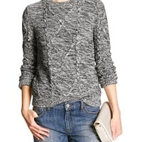 Banana Republic Womens Factory Cable Knit Sweater