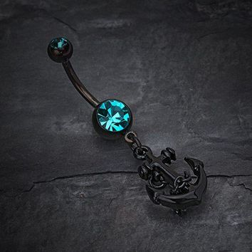 Blackline Classic Anchor Belly Ring