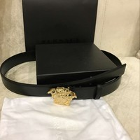 Men's Versace Belt with Medusa Buckle Lether Size 40 / 100 cm ( Pants 35-37 )
