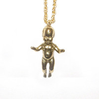 verameat | space baby necklace in brass