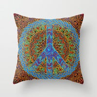 Peaceful Living Throw Pillow by TreeofLifeShop