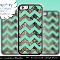 Monogram Iphone 5C case 6 Plus Camo Mint Chevron iPhone 5s iPhone 4 case Ipod 4 5 case Real Tree Personalized Country Inspired Girl