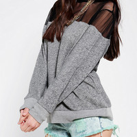 Urban Outfitters - byCORPUS Mesh-Inset Pullover Sweatshirt