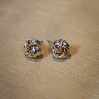 Just A Knot Earrings in Gold