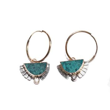 Rising Sol Hoop Earrings