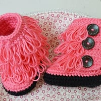 Handmade DIY Newborn Toddler Infant Baby Crochet Knit Socks First Walking Slightly Stretchy Sandals New Crochet Baby Boots With Button