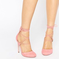 ASOS | ASOS PERSEVERE Lace Up High Heels at ASOS