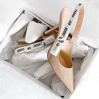 Dior pointed toe ladies sexy high heels toe cap sandals Shoes