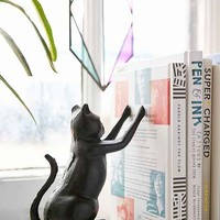 Cat Bookend Set- Black One