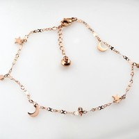New Arrival Shiny Sexy Jewelry Gift Cute Stylish Ladies Korean Titanium Chain Accessory Anklet [8169868423]