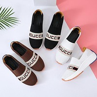 GG new letters embroidered canvas sneakers casual platform shoes