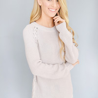 Wilderness Braid Rose Sweater