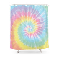 Society6 Pastel Tie Dye Shower Curtains