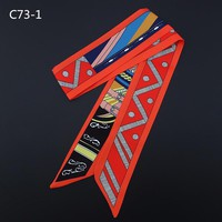 Fashion women silk handfeel scarf with dot and striped  print/ For many uses/ Women's beautiful bandanas headbands Hair ribbons