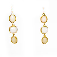 Third Time's the Charm Gold Earrings