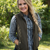 Weekend In Aspen Unlined Vest - Olive