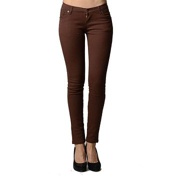 Brown Colored Denim – Skinny Jeans