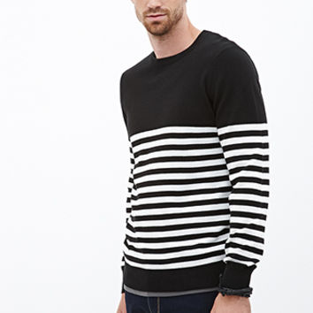 Ribbed Knit Striped Sweater