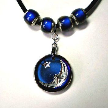 Moon & Star Mood Necklace