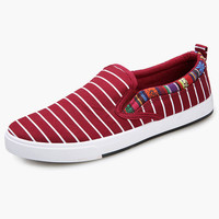 Slip-On Round Toe Textile Loafer Shoes