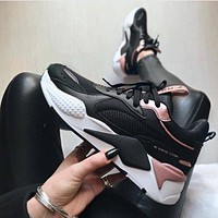 PUMA RS-X Reinvention Men's and women's retro color matching old shoes Black