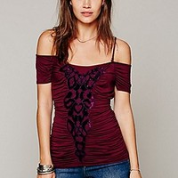 Free People  Velvet Curtain Top at Free People Clothing Boutique