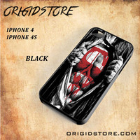 Superman Blood Open Cloth Snap on 2D Black and White Or 3D Suitable With Image For Iphone 4/4S Case