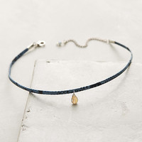 Stone Leather Choker Necklace