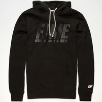 Hall Of Fame Fame Block Reflective Mens Hoodie Black  In Sizes