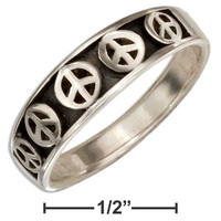 Tapered Peace Sign Band