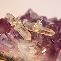 Quartz Crystal Stud Earrings, Healing Crystals and Stones, Bridal Bohemian Jewelry, Christmas Gift for her under 25