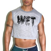 WET Crop Tank- Grey