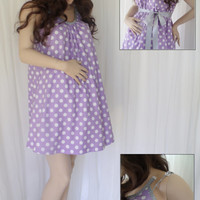 Purple Maternity Hospital Gown, delivery nursing gown breastfeeding gown