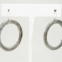 Circle Earring, Large - Gold or Silver