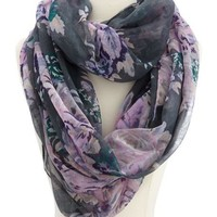 Lavender Bouquet Infinity Scarf: Charlotte Russe